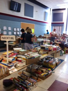 Thousands of books all sorted by category.