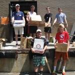 2015 Book Sale Sorting - HS volunteer