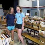 2015 Book Sale Sorting - HS volunteers HC fiction