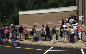 Opening day of the 2015 Somerset Hills AAUW Book Sale